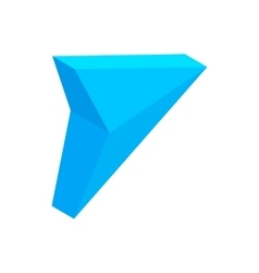 Blue triangular arrow isometric 3d icon vector image vector image