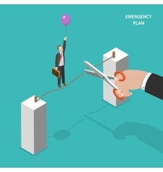Business emergency plan isometric concept vector image vector image