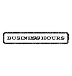 Business hours watermark stamp vector