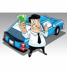 Car salesperson vector