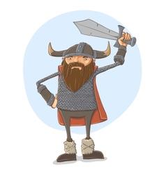 Cartoon viking vector