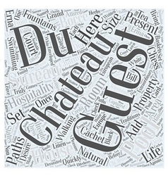 Chateau du sureau word cloud concept vector