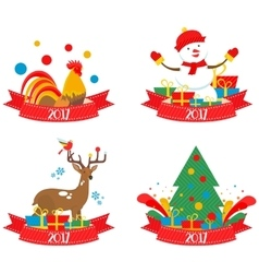 Christmas characters 2017 vector image