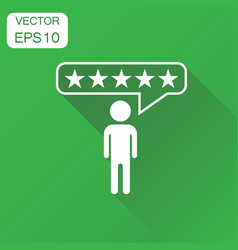 Customer reviews rating user feedback icon vector