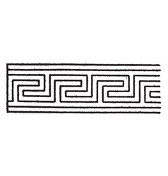 Elongated fret band has a meandering pattern that vector