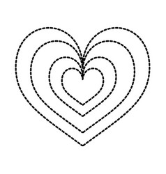 heart love romance passion style icon vector image vector image