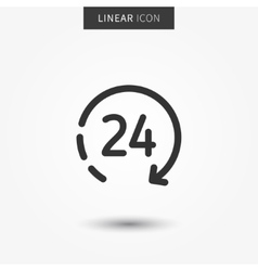 Icon 24 hour vector