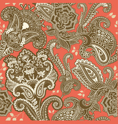 Indian motive ethnic ornamental wallpaper big vector