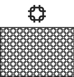 Lattice geometric pattern swatch vector