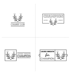 Laurel wreath icon emblems labels Set of logos vector image vector image