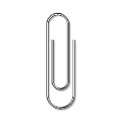 metal paper clip isolated on white background vector image vector image