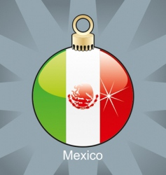 Mexico flag on bulb vector image vector image