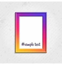 Modern picture frame vector