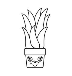 Monochrome silhouette of caricature corn plant in vector