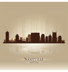 Nashville tennessee skyline city silhouette vector
