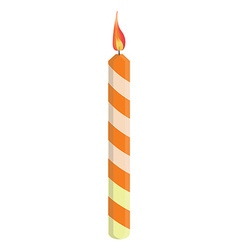 Orange birthday candle vector