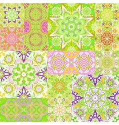 Seamless background pattern ornate patchwork in vector