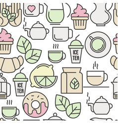 Seamless pattern of tea tea ceremony vector