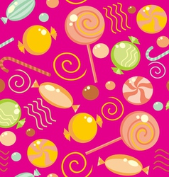 seamless sweets background vector image vector image