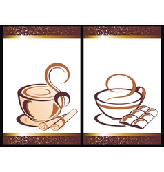 Set of coffee backgrounds vector image