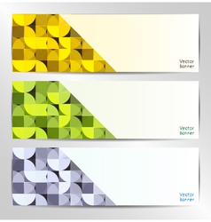 set of three abstract banners vector image vector image