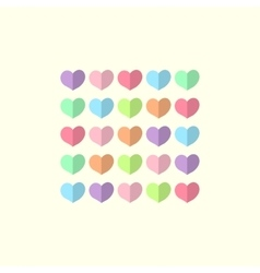 Valentines day card with multicolored hearts vector image vector image