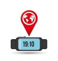 watch globe app social network vector image vector image