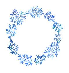 watercolor blue flora vector image vector image