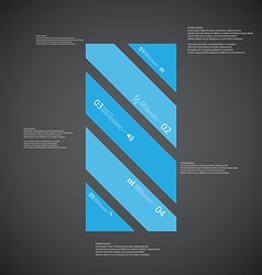 Bar template consists of five blue parts on dark vector