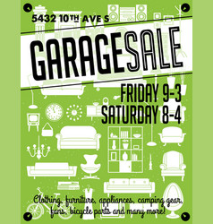 garage sale poster vector image