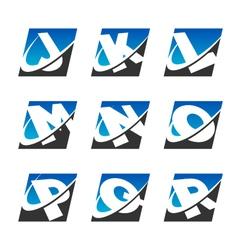 Swoosh Sport Alphabet Logo Icons Set 2 vector image