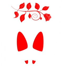 footprint with rose vector image