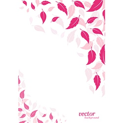 Abstract pink leaf background vector