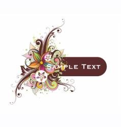 Floral frame for text vector