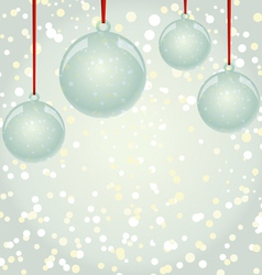 Newyear snowflakes background with glass balls vector