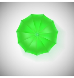 Opened green umbrella top view closeup vector
