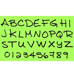 Capital letters alphabet in ink marker vector