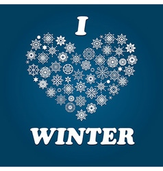 I love winter vector