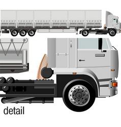 cargo semi-truck vector image