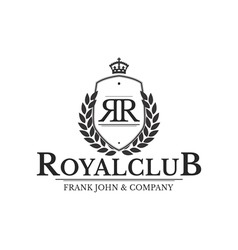 Vintage logo luxury royal club company vector