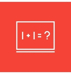 Maths example written on blackboard line icon vector