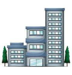 A tall condo building vector