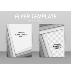 Abstract flyer template design vector