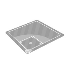 Baseball court baseball single icon in monochrome vector