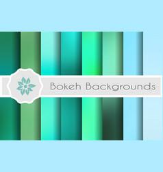 bokeh backgrounds set vector image
