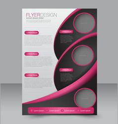 Brochure template business flyer editable a4 vector