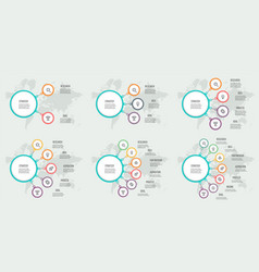 Business infographics organization charts vector
