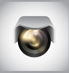 Cctv camera on white background vector