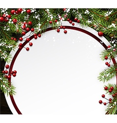 Christmas background with fir branches vector image vector image