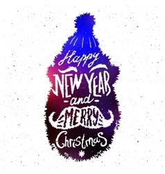 Christmas silhouettes santa vector